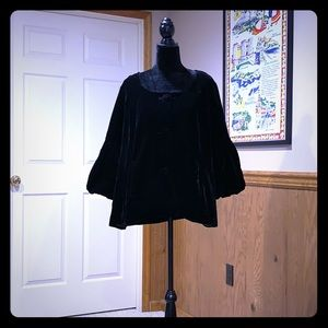 """Carole Little""Velvet Jacket (Vintage)"